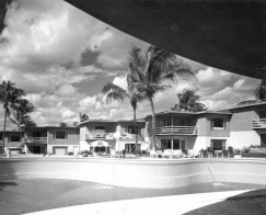 La Coquille's pool area 1954 Van Durand Photo